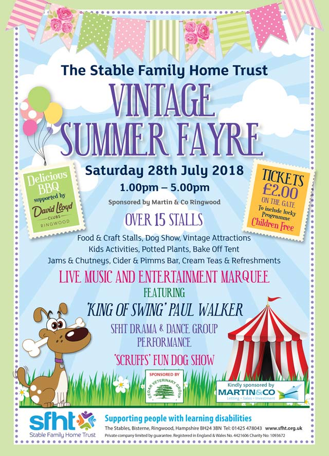David Lloyd Ringwood >> Stable Family Home Trust - Vintage Summer Fayre